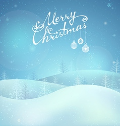 Merry christmas night landscape vector
