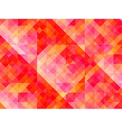 Abstract geometric background with red and yellow vector