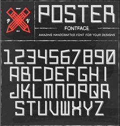 Retro poster font vector