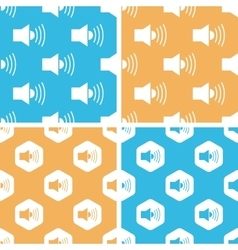 Loudspeaker pattern set colored vector