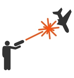 Rebel strikes airplane icon vector