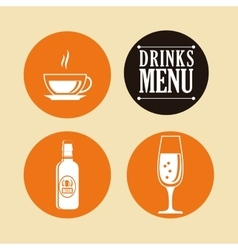 Drinks collection design vector
