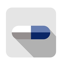 Square icon of pill vector