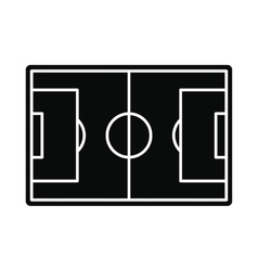 Soccer field icon simple style vector
