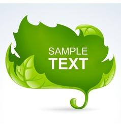 green leaf frame spring background vector image