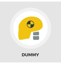Dummy head for crash test flat icon vector image