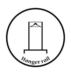 Hanger rail icon vector