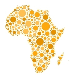 Africa map mosaic of orange dots vector
