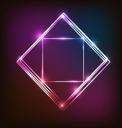 Abstract neon background with squares vector image vector image