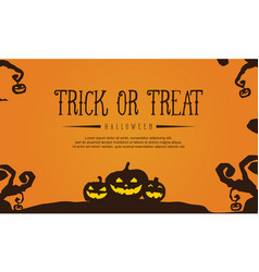 background with pumpkin halloween collection vector image