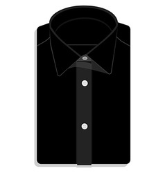 Black folded shirt vector image vector image