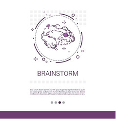 Brainstorm project development startup banner with vector