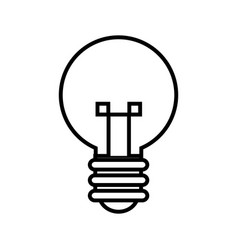 Bulb light idea mind creativity icon outline vector