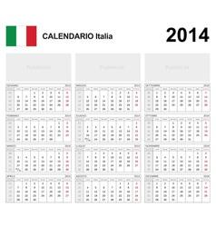 Calendar 2014 Italy Type 19B vector image vector image