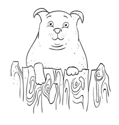 Cartoon image of dog vector