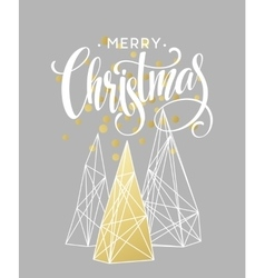 Christmas greeting card with handdrawn lettering vector