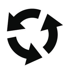 Circular arrows black simple icon vector