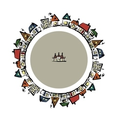 Cityscape frame abstract houses sketch for your vector image vector image
