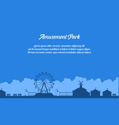 Collection stock of amusement park scenery vector