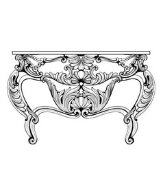 Exquisite fabulous imperial baroque chest table vector