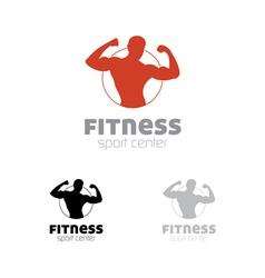 Fitness sport center logo vector