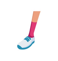 Foot sneaker sport concept icon vector