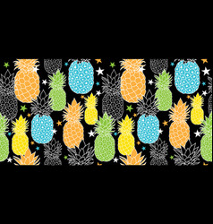 fun pineapples repeat seamless pattrern in vector image vector image