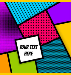 Geometric pop art advertise background vector