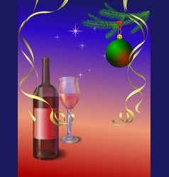 grapes on white plate xmas or new year vector image