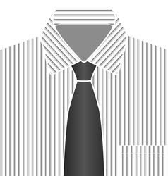Grey Tone Shirt And Tie vector image vector image