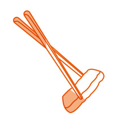 Japanese food chopstick with tuna image vector