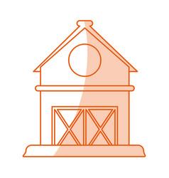 Monocromatic barn design vector