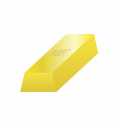 One gold bar vector