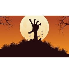 Scary hand zombie halloween backgrounds vector image vector image