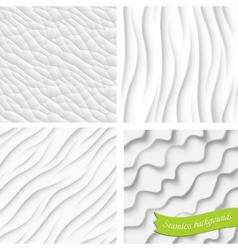 Set of four backgrounds seamless vector image