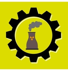 signal of reactor isolated icon design vector image vector image