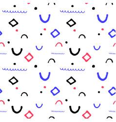 Simple geometric seamless pattern in vector