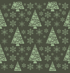 snowflake winter christmas tree holiday fir-tree vector image vector image