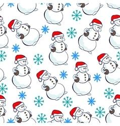 snowmen pattern vector image