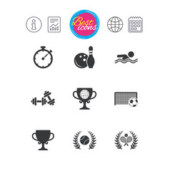 Sport games fitness icon football tennis vector