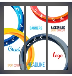 template design strips of colored rings and waves vector image vector image
