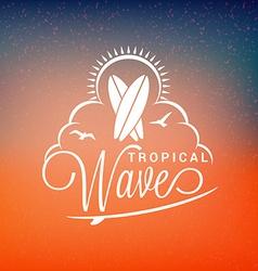 Vintage Hipster Summer Holidays Label or Badge vector image vector image