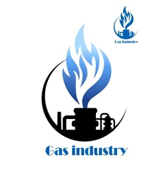 Well gas production and gas processing vector image