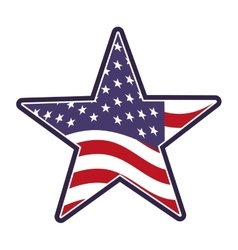Star united states of america vector