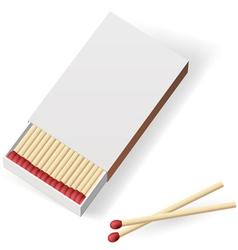 Realistic matchbox vector image