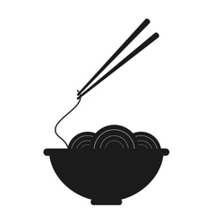 Noodle bowl food design vector