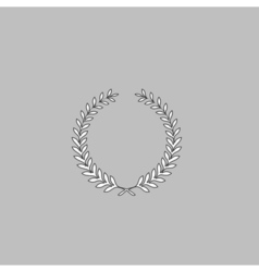 Wreath computer symbol vector