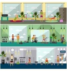Fitness center interior vector