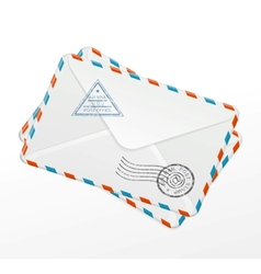 Package of old letters vector
