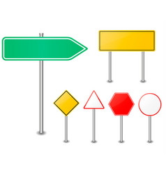 road sign set traffic blank sign vector image